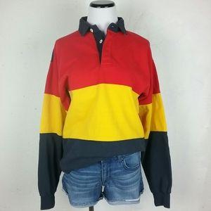 Vintage Honors Color Block Long Sleeve Top Preppy